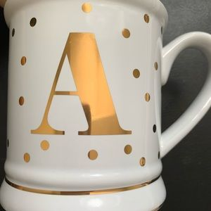 Pier 1 Initial Mug Letter A brand new gold foil
